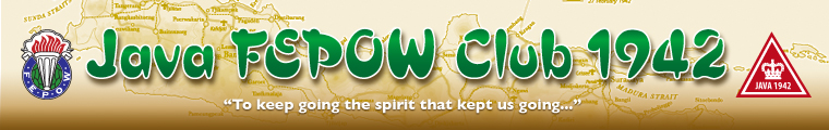 "Banner image - Java FEPOW 1942 Club, 2 logos, with strapline ""To keep going the spirit that kept us going..."""